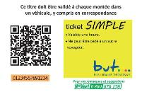 Ticket simple jeune BUT Thônon